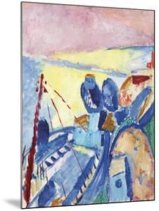 Blue Barges by Sigrid Hjerten