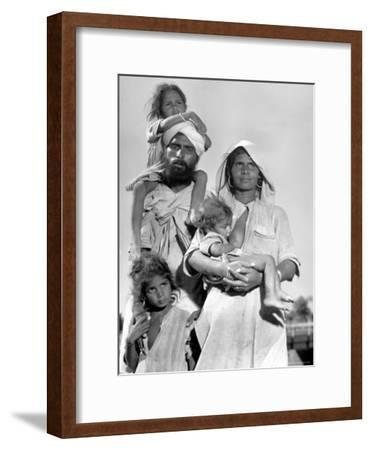 Sikh and His Family in Convoy Migrating to East Punjab After the Division of India-Margaret Bourke-White-Framed Premium Photographic Print