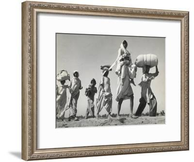 Sikh Carrying His Wife on Shoulders After the Creation of Sikh and Hindu Section of Punjab India-Margaret Bourke-White-Framed Premium Photographic Print