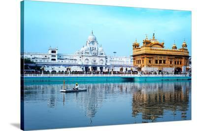 Sikh Golden Palace In India--Stretched Canvas Print