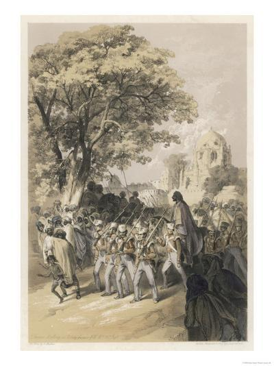 "Sikh Rebel ""Dewan Moolraj"" in Custody after the Defeat of Sikh Forces in Mooltan--Giclee Print"