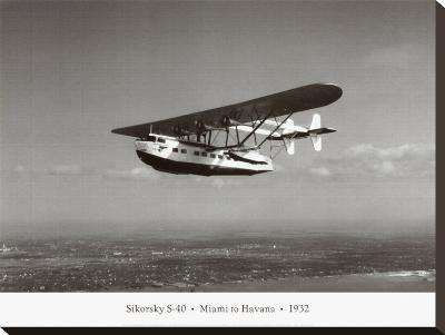 Sikorsky S-40, Miami to Havana, 1932-Clyde Sunderland-Stretched Canvas Print