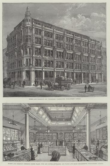 Silber and Fleming's New Wholesale Warehouses, Wood-Street, London--Giclee Print