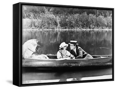 Silent Film Still: Couples--Framed Canvas Print