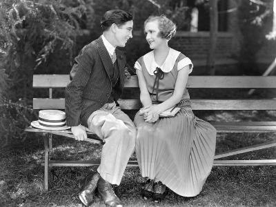 Silent Film Still: Couples--Photographic Print