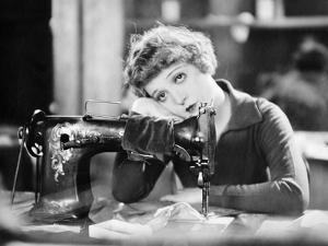 Silent Film Still: Sewing