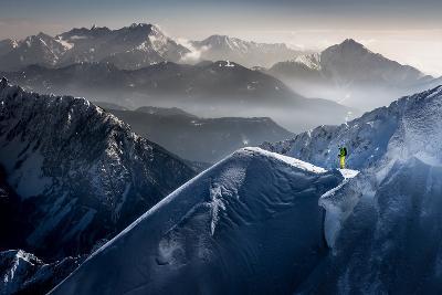 Silent Moments before Descent-Sandi Bertoncelj-Photographic Print