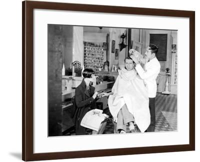 Silent Still: Barber Shop--Framed Giclee Print