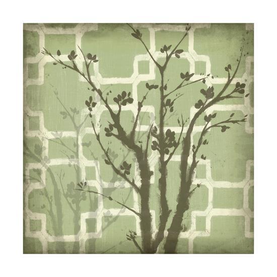Silhouette and Pattern III-Jennifer Goldberger-Art Print