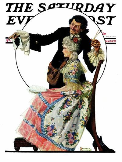 """""""Silhouette Maker"""" Saturday Evening Post Cover, September 24,1927-Norman Rockwell-Giclee Print"""