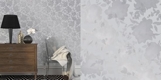 Silhouette Metallic Silver Self Adhesive Wallpaper Home Accessories
