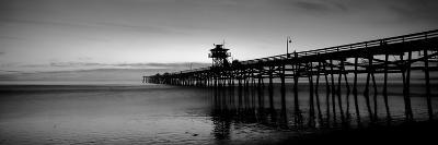 Silhouette of a Pier, San Clemente Pier, Los Angeles County, California, USA--Photographic Print
