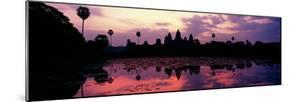 Silhouette of a Temple at Dusk, Angkor Wat, Siem Reap, Angkor, Cambodia