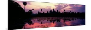 Silhouette of a Temple at Dusk, Angkor Wat, Siem Reap, Angkor, Cambodia