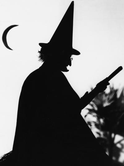 Silhouette of a Witch--Photographic Print