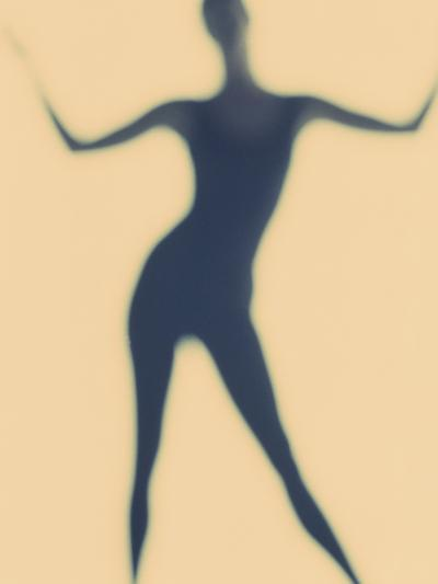 Silhouette of a Woman Standing--Photographic Print