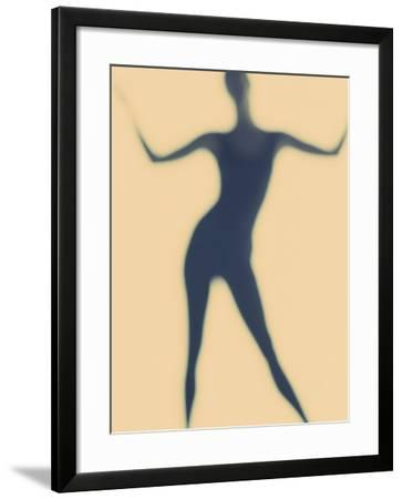 Silhouette of a Woman Standing--Framed Photographic Print