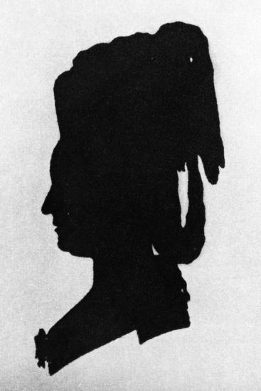 Silhouette of Baroness Martha Elisabeth Von Waldstatten--Giclee Print