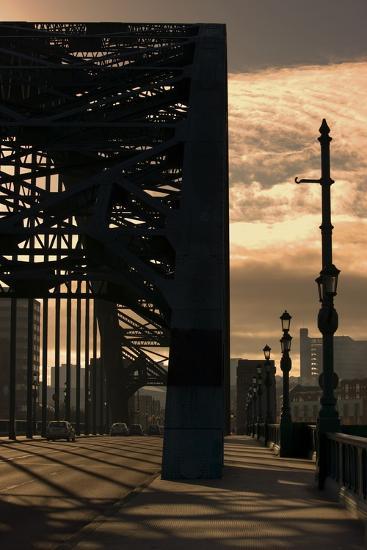 Silhouette of Bridge; Newcastle Upon Tyne, Tyne and Wear, England, Uk-Design Pics Inc-Photographic Print