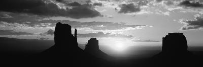 Silhouette of Buttes at Sunset, Monument Valley, Utah, USA--Photographic Print