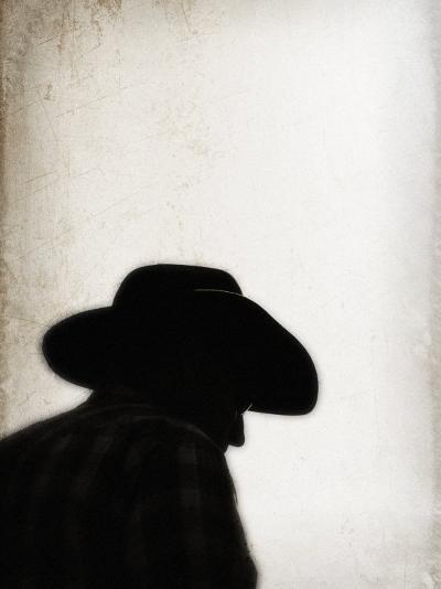 Silhouette of Cowboy-April Bauknight-Photographic Print