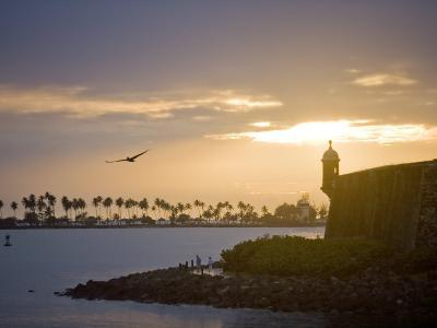 Silhouette of El Morro at Sunset-Taylor S^ Kennedy-Photographic Print