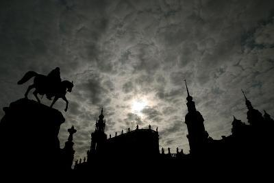 Silhouette of Historic Dresden-Ralf Hirschberger-Photographic Print