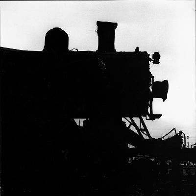Silhouette of Last of the Steam Locomotives of Norfolk Western Railroad-Walker Evans-Photographic Print
