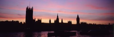 Silhouette of Palace of Westminster, London,England,Uk-Design Pics Inc-Photographic Print