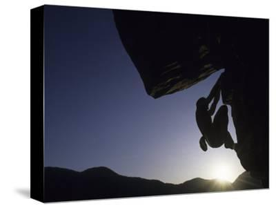 Silhouette of Rock Climber, Boulder, Colorado, USA
