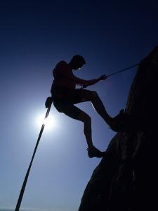 Silhouette of Rock Climber, Boulder, Colorado, USA