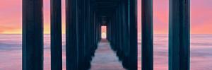 Silhouette of Scripps Pier, La Jolla, San Diego, California, Usa