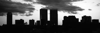 Silhouette of Skyscrapers in a City, Century City, City of Los Angeles, Los Angeles County--Photographic Print