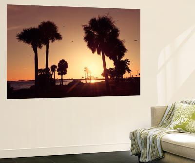 Silhouette Palm Trees at Sunset-Philippe Hugonnard-Wall Mural