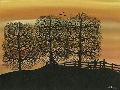 Silhouetted on the Hill-Gordon Barker-Giclee Print