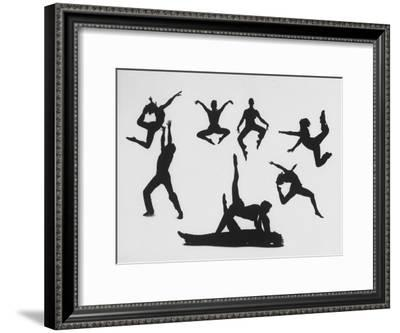 Silhouettes of Dancers Diane Sinclair and Ken Spaulding-Gordon Parks-Framed Premium Photographic Print