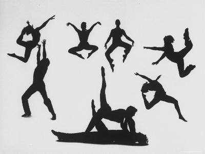 Silhouettes of Dancers Diane Sinclair and Ken Spaulding-Gordon Parks-Photographic Print