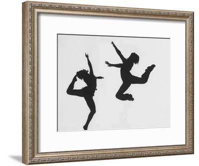 Silhouettes of Dancers Diane Sinclair and Ken Spaulding-Gordon Parks-Framed Premium Photographic Print