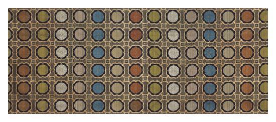 Silk Brocade with Japanese Roundal- Oriental School-Premium Giclee Print