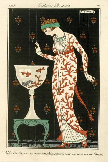 Silk House Dress, Fashion, 1913--Giclee Print
