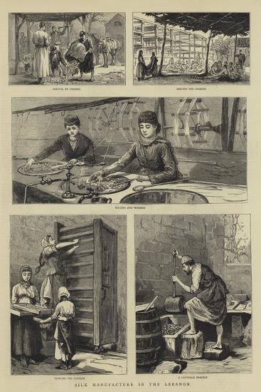Silk Manufacture in the Lebanon--Giclee Print