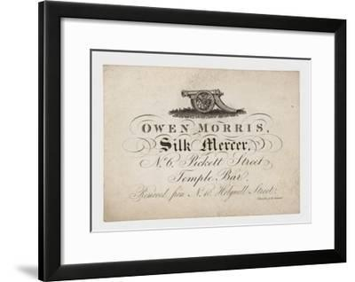 Silk Mercer, Owen Morris, Trade Card--Framed Giclee Print