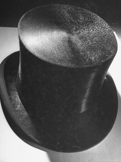 Silk Top Hat Showing Properties of Smooth and Rough Nap Which Are Principles Used in Camouflage-Dmitri Kessel-Photographic Print