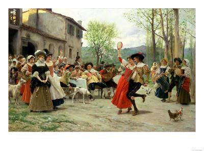 Silks and Satins at the Wedding Dance-Carl Frederic Aagaard-Giclee Print