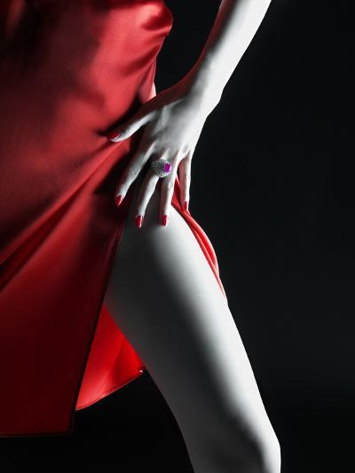 Silky Red Dress-Graeme Montgomery-Photographic Print