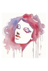 So She Flows (Watercolor portrait) by Sillier than Sally