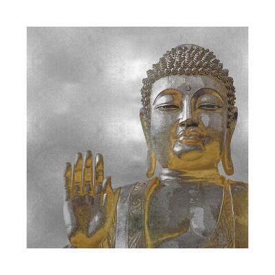 Silver and Gold Buddha-Tom Bray-Giclee Print