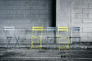 Silver and Yellow Chairs