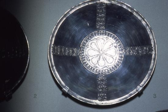 Silver Bowl from Sutton Hoo Ship Burial, Anglo-Saxon, c7th century-Unknown-Giclee Print