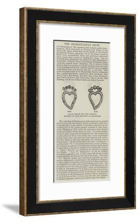 Silver Brooch Set with Crystals, Supposed to Have Belonged to Shakspeare--Framed Giclee Print